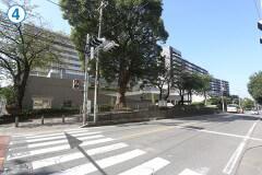 4.横断歩道を渡り、右折してください。